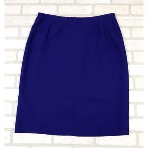 NWOT Evan Picone Blue Pencil Skirt